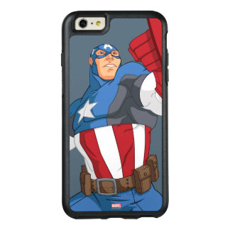 Avengers Cartoon Captain America Character Pose OtterBox iPhone 6/6s Plus Case