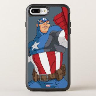 Avengers Cartoon Captain America Character Pose OtterBox Symmetry iPhone 7 Plus Case