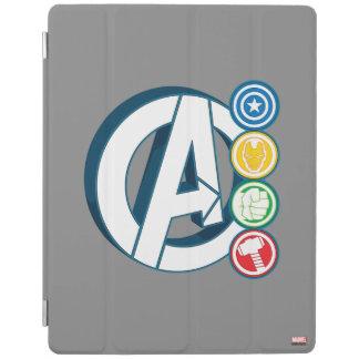 Avengers Character Logos iPad Cover