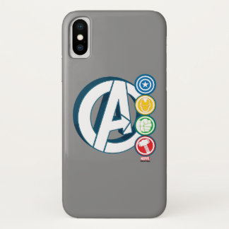 Avengers Character Logos iPhone X Case