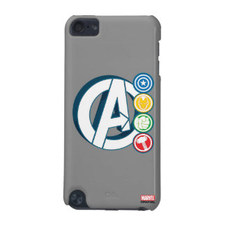 Avengers Character Logos iPod Touch 5G Covers