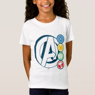 Avengers Character Logos T-Shirt