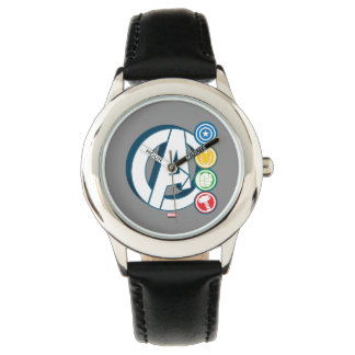 Avengers Character Logos Wristwatches
