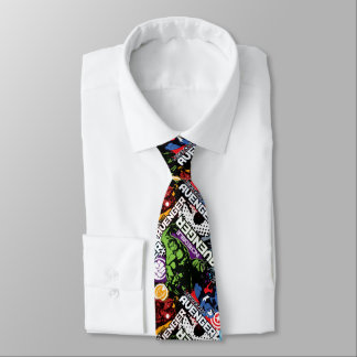 Avengers Character Pattern Tie