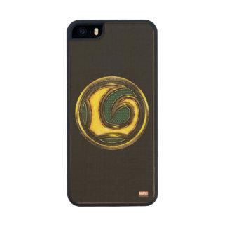 Avengers Classics | Loki Symbol Wood iPhone SE/5/5s Case