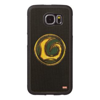 Avengers Classics | Loki Symbol Wood Phone Case