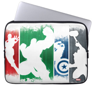 Avengers Classics | Paint Swatch Silhouettes Laptop Sleeves