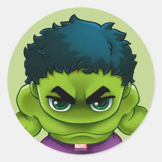 Avengers Classics | The Hulk Stylized Art Round Sticker
