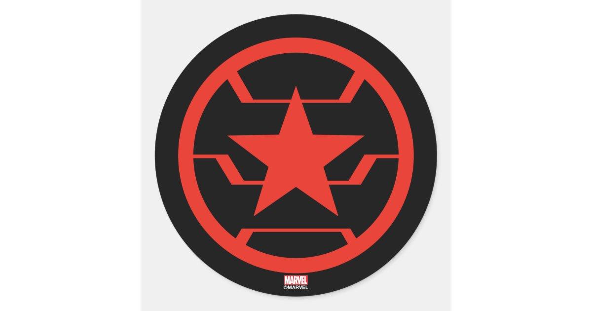 Avengers Classics Winter Soldier Icon Classic Round Sticker