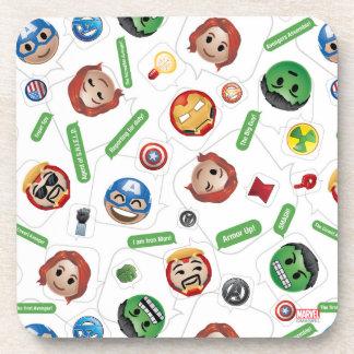 Avengers Emoji Characters Text Pattern Coasters