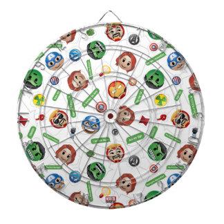 Avengers Emoji Characters Text Pattern Dartboard