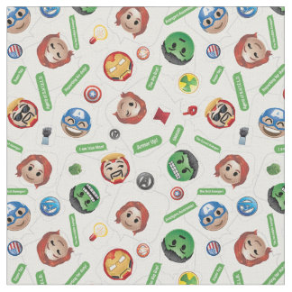 Avengers Emoji Characters Text Pattern Fabric