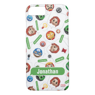 Avengers Emoji Characters Text Pattern iPhone 8/7 Case