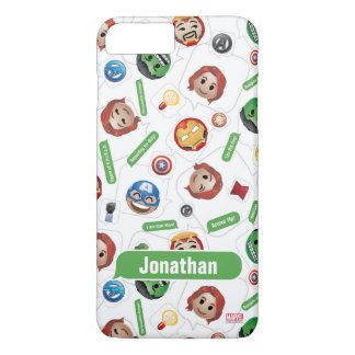Avengers Emoji Characters Text Pattern iPhone 8 Plus/7 Plus Case