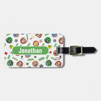 Avengers Emoji Characters Text Pattern Luggage Tag