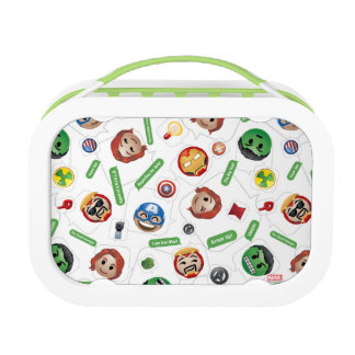 Avengers Emoji Characters Text Pattern Lunch Box