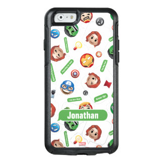 Avengers Emoji Characters Text Pattern OtterBox iPhone 6/6s Case