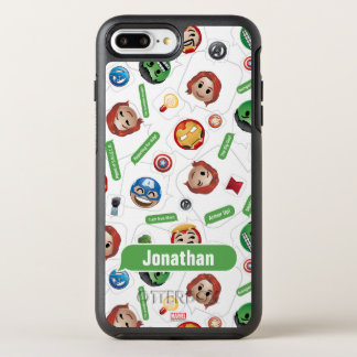 Avengers Emoji Characters Text Pattern OtterBox Symmetry iPhone 8 Plus/7 Plus Case