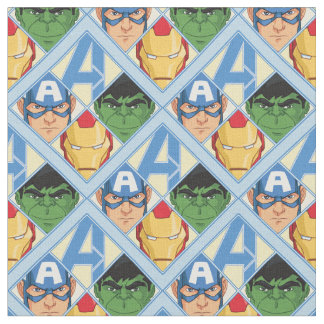 Avengers Face Badge Fabric