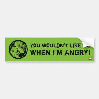 Avengers Hulk Fist Logo Bumper Sticker
