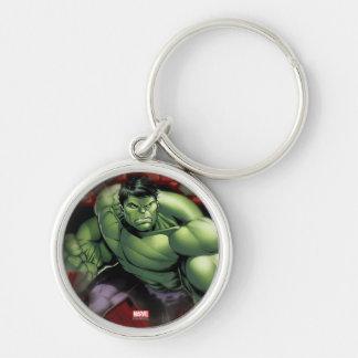 Avengers Hulk Smashing Through Bricks Key Ring