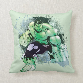 Avengers Hulk Watercolor Graphic Cushion