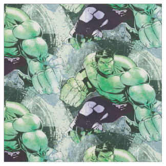 Avengers Hulk Watercolor Graphic Fabric