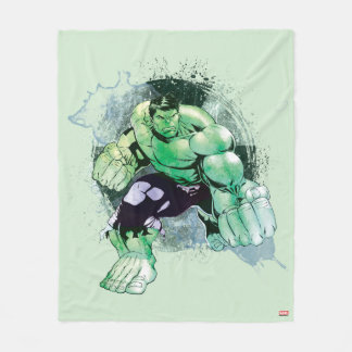 Avengers Hulk Watercolor Graphic Fleece Blanket