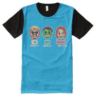 Avengers Power Emoji All-Over Print T-Shirt
