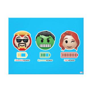 Avengers Power Emoji Canvas Print