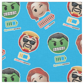Avengers Power Emoji Fabric