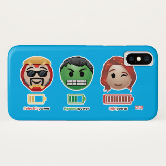 Avengers Power Emoji iPhone X Case