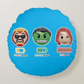 Avengers Power Emoji Round Cushion