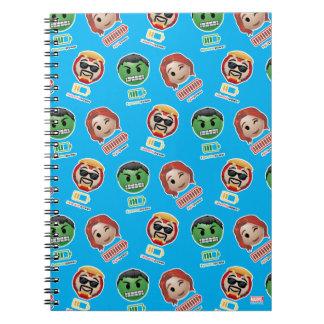 Avengers Power Emoji Spiral Notebook