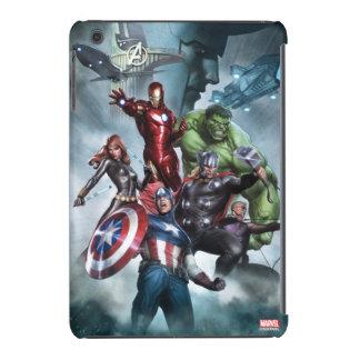 Avengers Versus Loki Drawing iPad Mini Cover