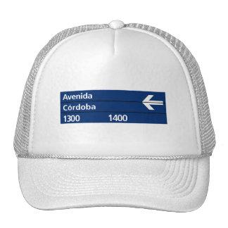 Avenida Córdoba, Buenos Aires Street Sign Trucker Hats