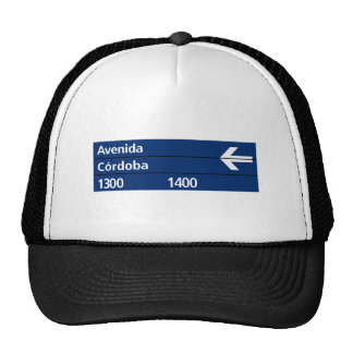 Avenida Córdoba, Buenos Aires Street Sign Hats