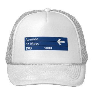 Avenida de Mayo, Buenos Aires Street Sign Trucker Hats