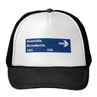 Avenida Rivadavia, Buenos Aires Street Sign Hats