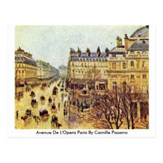 Avenue De L'Opera Paris By Camille Pissarro Postcard