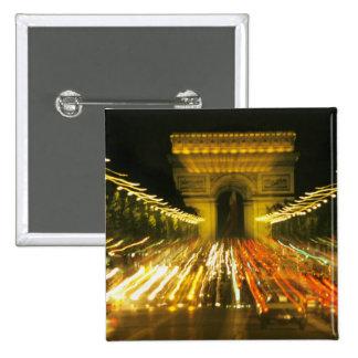 Avenue des Champs-Elysees, Arch of Triumph, 15 Cm Square Badge