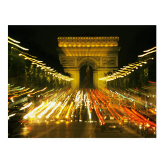 Avenue des Champs-Elysees, Arch of Triumph, Postcard