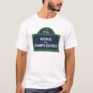 Avenue des Champs Elysees street sign T-Shirt
