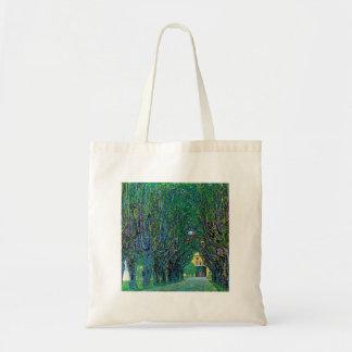 Avenue in schloss kammer park art by Gustav Klimt Tote Bags