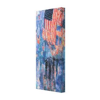 Avenue in the Rain, Hassam, Vintage Impressionism Canvas Print