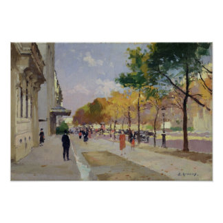 Avenue Montaigne, Paris Poster
