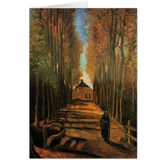 Avenue of Poplars in Autumn by Vincent van Gogh Card