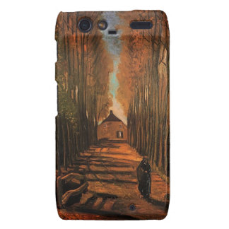 Avenue of Poplars in Autumn, Vincent van Gogh. Motorola Droid RAZR Cases