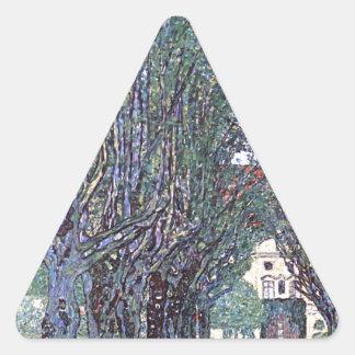 Avenue of Schloss Kammer Park cool Triangle Sticker