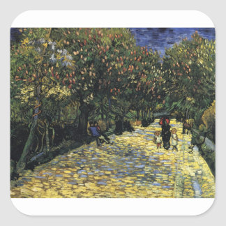 Avenue with Chestnut Trees at Arles - Van Gogh Square Sticker